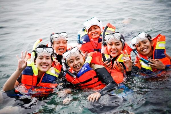 Saat Snorkeling di Pulau Tidung